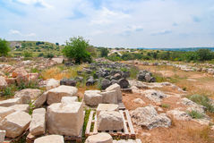 Archeological ruins in Beit Guvrin, Israel. Royalty Free Stock Images