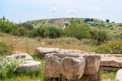 Archeological ruins in Beit Guvrin, Israel. Archeological ruins ancient buildings in Beit Guvrin national Park, Israel Royalty Free Stock Images