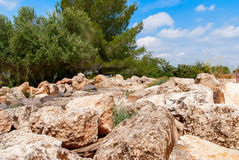 Archeological ruins in Beit Guvrin, Israel. Archeological ruins ancient buildings in Beit Guvrin national Park, Israel Stock Image