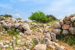 Archeological ruins in Beit Guvrin, Israel. Archeological ruins ancient buildings in Beit Guvrin national Park, Israel Stock Images