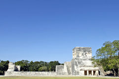 Archeological ruins, built by the Mayas Stock Image