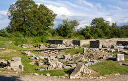 archeological sarmizegetusalokal Fotografering för Bildbyråer