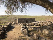 Archeological site of the biblical city of Korazim in Israel Royalty Free Stock Image