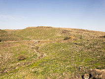 Archeological site of the biblical city of Korazim in Israel Stock Photos