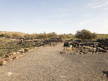 Archeological site of the biblical city of Korazim in Israel Royalty Free Stock Images