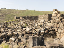 Archeological site of the biblical city of Korazim in Israel Stock Photography
