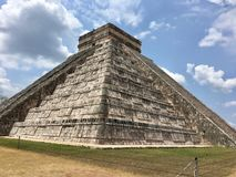 Archeological site Chichen Itzá in Mexico stock photography