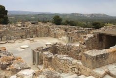 Archeological site of Festos in Crete royalty free stock photo