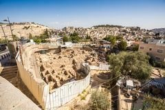 Archeological site in Jerusalem, Israel royalty free stock photo