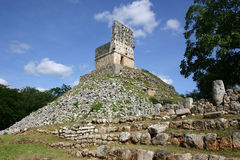 Archeological site of Labna. El mirador: ancient mayan space observatory at Labna in Mexico Stock Image