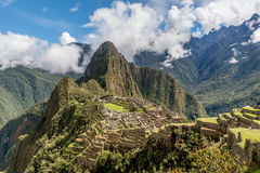 Archeological site of Machu Picchu ,Peru.  royalty free stock photos