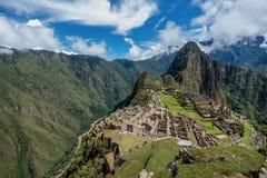 Archeological site of Machu Picchu ,Peru.  stock images