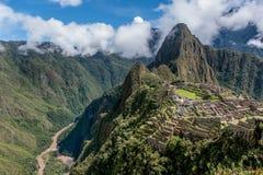 Archeological site of Machu Picchu ,Peru.  stock photography