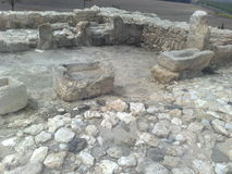 Archeological site of Megiddo Royalty Free Stock Photography