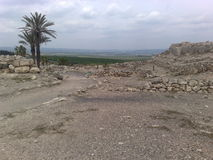Archeological site of Megiddo Royalty Free Stock Image
