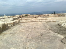 Archeological site of Megiddo Stock Images