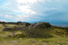 The archeological site of Monte Alban in Oaxaca State Royalty Free Stock Images