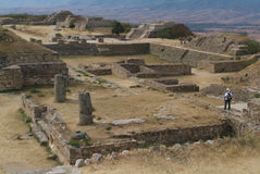 Archeological site of Monte Alban UNESCO World Her. Itage, Mexico Royalty Free Stock Photos