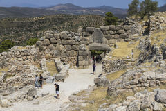 Archeological site Mycenae in Greece Royalty Free Stock Image