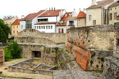 Archeological site in Sopron. Hungary, Europe Stock Photos