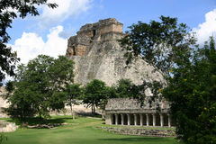 Archeological site of Uxmal. View of mayan archeological site of Uxmal in Mexico Stock Photo