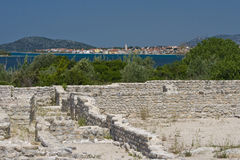 Archeological site and view to Pirovac Stock Photos