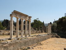 Archeological sites. In Kos island stock image