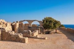 Archeologiczne resztki Kourion w Cypr zdjęcie stock