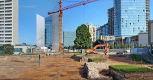 Archeologiczny badanie podczas budowy nowy buildin Obrazy Royalty Free