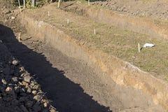 Archeologiczny głębienia miejsce na Lacul Morii obraz royalty free