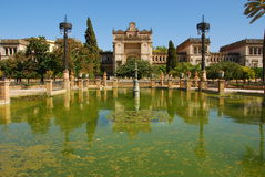 archeologiczny i Luisa Maria muzeum park Seville Obrazy Stock