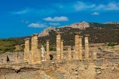 Archeologiczny miejsce Baelo Claudia w Hiszpania fotografia royalty free