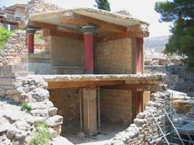 Archeologiczny miejsce Knossos Crete Grecja Zdjęcie Stock