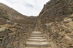 Archeologiczny miejsce przy Ollantaytambo, inka Święta dolina miasto, specjalizuje się podróży miejsce przeznaczenia w Cusco regi Obraz Royalty Free