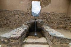 Archeologiczny miejsce przy Ollantaytambo, inka Święta dolina miasto, specjalizuje się podróży miejsce przeznaczenia w Cusco regi Fotografia Royalty Free