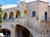 Archeologiczny muzeum w Rhodes miasteczku jest obok daleki najlepszy muzeum w Dodecanese obraz royalty free