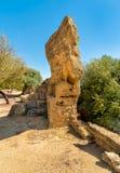 Archeologiczny park dolina świątynie w Agrigento, Sicily Fotografia Stock