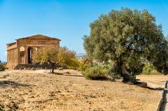 Archeologiczny park dolina świątynie w Agrigento, Sicily Zdjęcie Stock