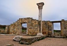Archeologiczny rezerwowy Chersonese Zdjęcie Stock