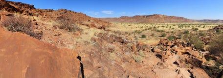 Archeologiczny Twyfelfontein miejsce, Namibia Obraz Stock