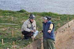 Archeologie: het plannen Royalty-vrije Stock Foto