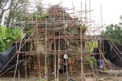 Archeologieplaats, Boeddhistische Chedi Stock Fotografie
