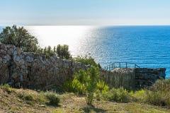 Archeologisch Gebied Stageira Ruïnes van oude Stagira, Griekenland stock foto