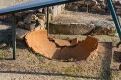 Archeologisch Gebied Stageira Ruïnes van oude Stagira, Griekenland stock afbeeldingen