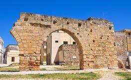Archeologisch gebied van Brindisi.Puglia. Italië. stock foto