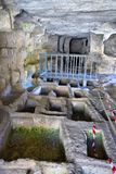 Archeologisch gebied van ispica stock foto