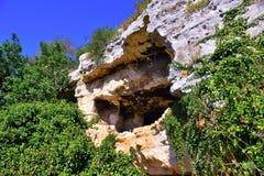 Archeologisch gebied van ispica stock afbeelding