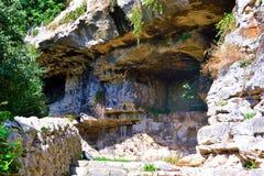 Archeologisch gebied van ispica stock afbeeldingen