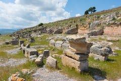 Archeologisch gebied van Solunto, dichtbij Palermo, in Sicilië stock foto