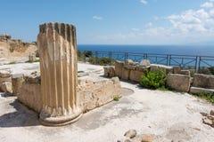 Archeologisch gebied van Solunto, dichtbij Palermo, in Sicili? stock fotografie